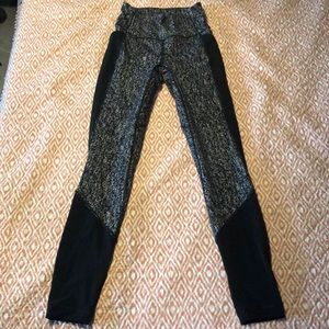 Lululemon paint splatter mesh leggings